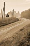 Дорога с кривым Стоковая Фотография