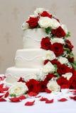 蛋糕典雅的婚礼 库存图片