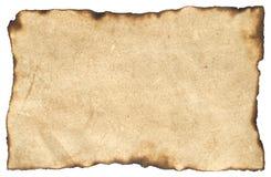 变老的白纸羊皮纸 免版税库存照片
