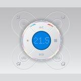 Управление условия воздуха автомобиля цифров с холодным дизайном Стоковое Изображение