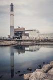 Σταθμός παραγωγής ηλεκτρικού ρεύματος ανάγνωσης, Τελ Αβίβ, Ισραήλ Στοκ φωτογραφία με δικαίωμα ελεύθερης χρήσης
