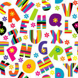 Счастливый алфавит безшовный Стоковые Фотографии RF