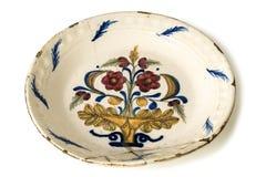 Παλαιό πιάτο πορσελάνης Στοκ Εικόνες
