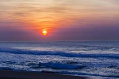黎明日出海洋颜色 库存照片