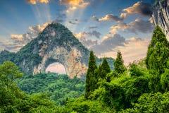 中国的月亮小山 免版税库存图片