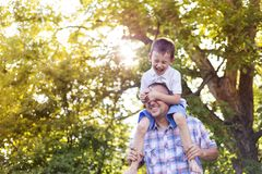 сынок отца счастливый Стоковое Изображение RF