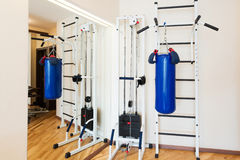 Частный спортзал дома Стоковое фото RF