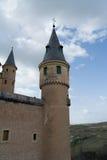 城堡城堡塔在塞戈维亚,西班牙 免版税图库摄影