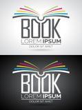 Διανυσματική απεικόνιση λογότυπων βιβλίων Στοκ Φωτογραφίες