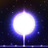 Клеймя круг яркая карточка Стоковая Фотография