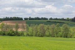 春天风景在巴伐利亚 免版税库存照片
