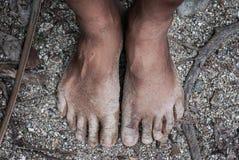 Ноги на песке Стоковая Фотография