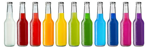 五颜六色的软饮料 免版税库存图片