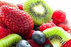 食物果子葡萄桔子瓷沙拉素食主义者 免版税图库摄影