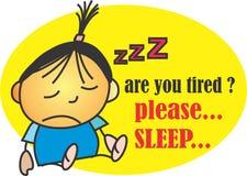 请睡觉 库存图片