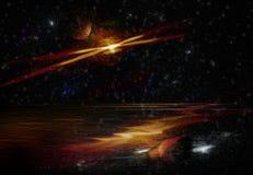 Πλανητάριο γαλαξιών φαντασίας Στοκ εικόνα με δικαίωμα ελεύθερης χρήσης