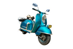 蓝色滑行车 免版税库存照片