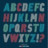 Установленные шрифты ретро нашивок в стиле фанк Стоковая Фотография RF