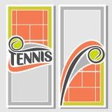Фоновые изображения для текста на предмете тенниса Стоковая Фотография