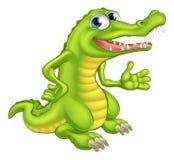Крокодил или аллигатор шаржа Стоковые Изображения