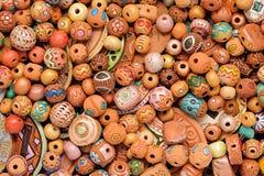 种族黏土串珠的首饰 免版税库存图片