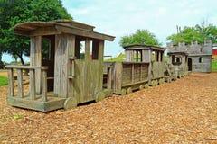 цветастый славный поезд игрушки деревянный Стоковая Фотография