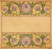 Старая бумажная флористическая рамка Стоковые Фото