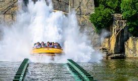 侏罗纪公园水乘驾 库存照片