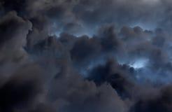 在雷暴前的剧烈的黑暗的云彩 免版税库存图片