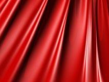 抽象红色丝绸发光的织品纹理背景 库存照片