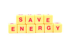 η ενέργεια σώζει Στοκ Εικόνα