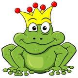 是青蛙被亲吻的王子对等待 库存图片