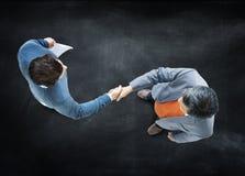 Концепция партнерства рукопожатия бизнесменов корпоративная Стоковая Фотография RF