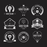 高尔夫俱乐部商标 免版税图库摄影