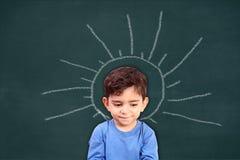孩子的活跃头脑 库存图片