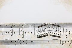 Παλαιό αποτέλεσμα μουσικής φύλλων Στοκ Φωτογραφία