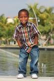 детеныши мальчика счастливые Стоковое фото RF