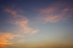日落天空 库存照片