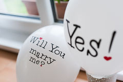 Поженитесь я? Да! Стоковые Изображения