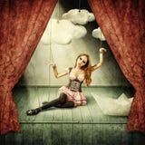 美丽的妇女牵线木偶 免版税库存图片