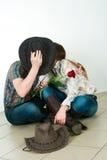 Ιστορία αγάπης κάουμποϋ Στοκ εικόνα με δικαίωμα ελεύθερης χρήσης