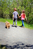Περπάτημα του σκυλιού Στοκ Εικόνα