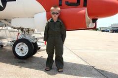 男孩小飞行员 库存图片