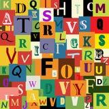 алфавит безшовный Стоковое фото RF