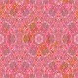 在桃红色的无缝的万花筒马赛克背景 免版税库存照片