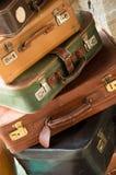 葡萄酒旅行袋子 免版税库存图片
