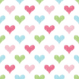 Άνευ ραφής υπόβαθρο κακογραφίας καρδιών Στοκ φωτογραφία με δικαίωμα ελεύθερης χρήσης