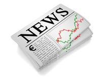 Евро газеты Стоковые Фотографии RF
