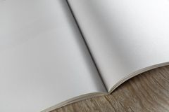 空白的杂志的片段 免版税库存照片