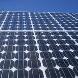 Квадрат фотогальванических элементов панели солнечных батарей Стоковые Изображения